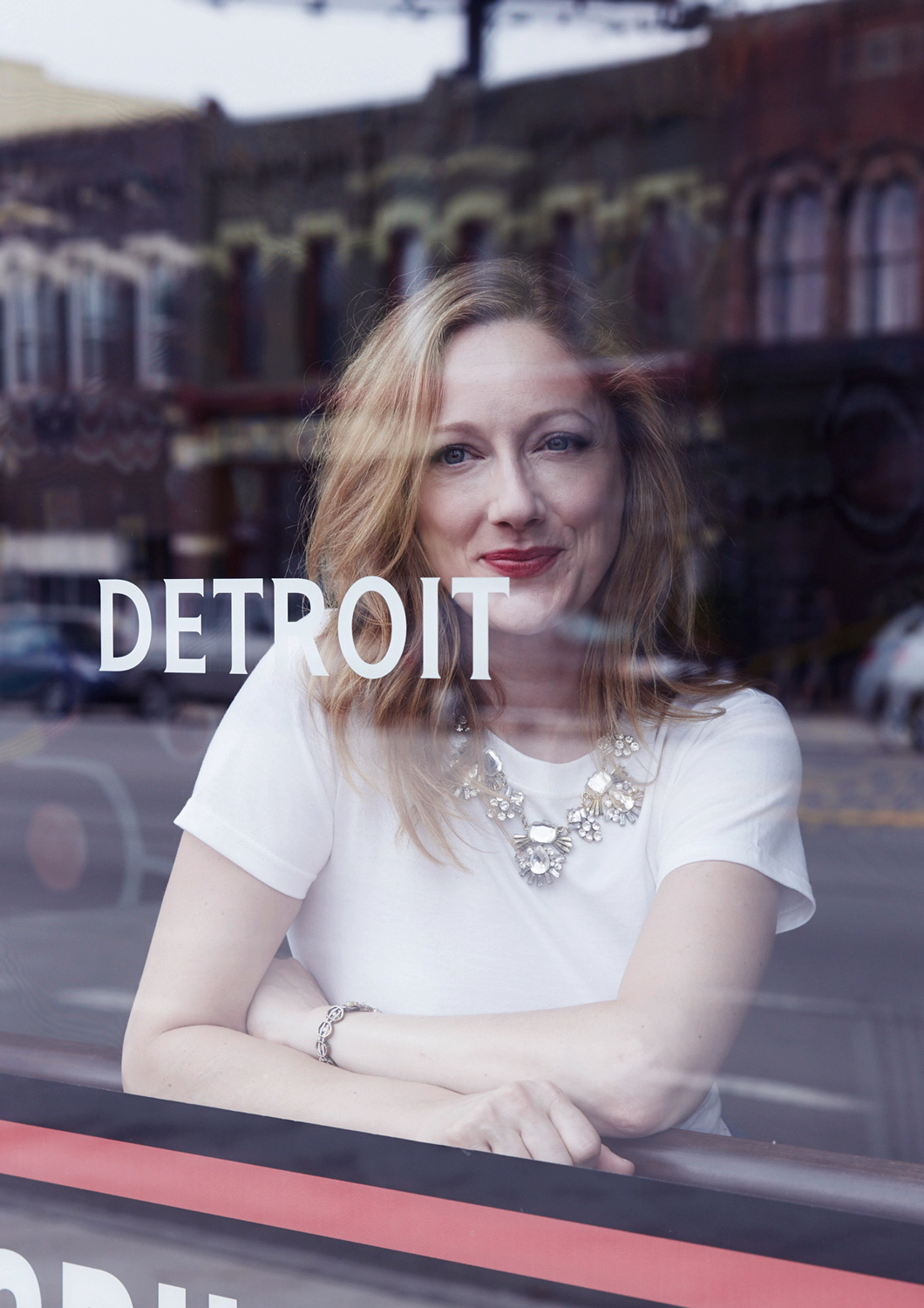 Judy Greer in Detroit, photographed by Grace Huang